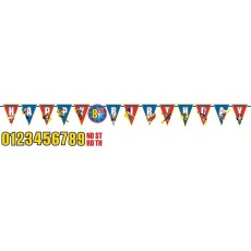 Super Hero Girls Party Decorations - Pennant Banner Jumbo Add-An-Age
