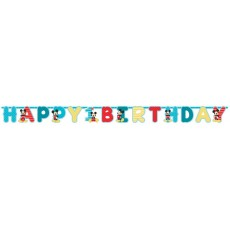 Mickey Mouse 1st Birthday Fun To Be One Jumbo Letter Banners