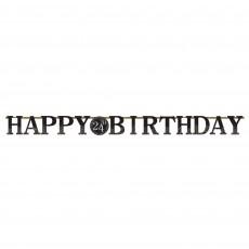 Happy Birthday Sparkling Celebration Add Any Age Jointed Jumbo Decorating Kit 3.2m