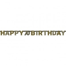 70th Birthday Sparkling Celebration Banner 17cm x 2.13m