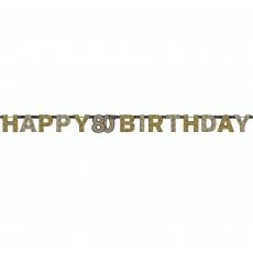 80th Birthday Sparkling Celebration Prismatic Banner 17cm x 2.13m