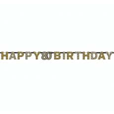 80th Birthday Sparkling Celebration Prismatic Banner