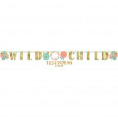 Boho Girl Jumbo Add An Age Letter Wild Child Banner