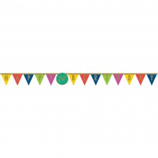 Dots Party Decorations - Pennant Banners Happy Dots Add-An-Age Jumbo Pennant