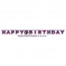 Internet Famous Party Decorations - Banner Jumbo Add-An-Age Letter