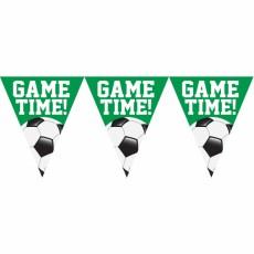 Soccer Goal Getter Plastic Game Time! Pennant Banner 26cm x 3.65m