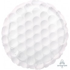 White Standard HX Golf Ball Foil Balloon