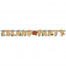 Hawaiian Summer Luau Letter Banner