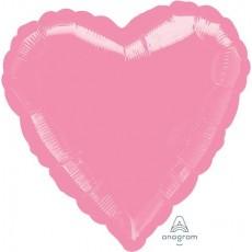 Heart Metallic Pink Standard HX Foil Balloon 45cm