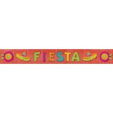 Mexican Fiesta Glitter Fringe FIESTA Banner 2.7m x 28.5cm