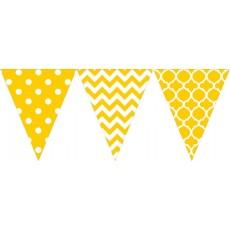 Yellow Sunshine Large Printed Plastic Pennant Banner