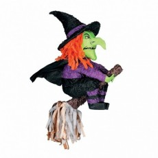 Halloween Witch & Broomstick Pinata