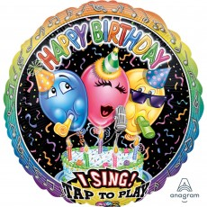 Happy Birthday Singing Balloons Sing-A-Tune XL Singing Balloon