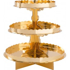 Gold 3 Tier Cake Stand 29cm