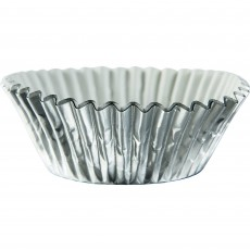 Silver Foil Cupcake Cases 5cm Pack of 24