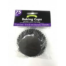 Black Cupcake Cases 5cm Pack of 75