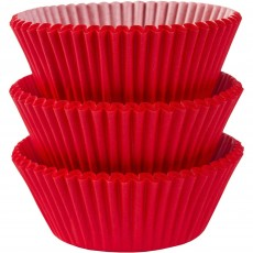 Apple Red Cupcake Cases 5cm Pack of 75