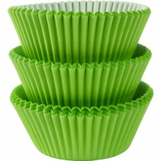 Green Kiwi  Cupcake Cases
