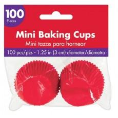 Apple Red Mini Cupcake Cases 3cm Pack of 100