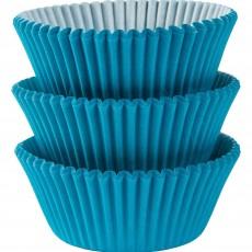 Caribbean Blue Mini Cupcake Cases 3cm Pack of 100