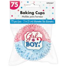 Gender Reveal Baking Girl or Boy? Cupcake Cases 5cm Pack of 75