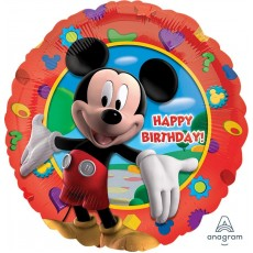 Round Mickey Mouse Clubhouse Standard HX Happy Birthday! Foil Balloon 45cm