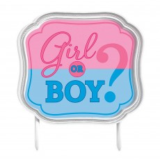 Gender Reveal Plastic Cake Topper
