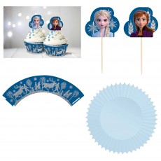 Disney Frozen 2 Picks, Wraps & Cupcake Cases Pack of 24