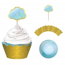 Oh Baby Boy Glittered Cupcake Cases Pack of 24