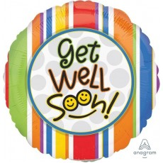 Get Well Party Decorations - Foil Balloon Smiles Get Well Soon!