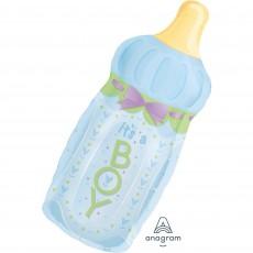 Baby Shower - General SuperShape XL Baby Bottle It's a Boy Shaped Balloon 33cm x 79cm