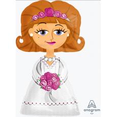 Wedding XL Bride Airwalker Foil Balloon