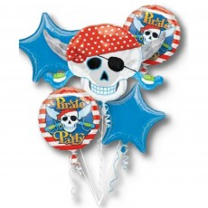 Pirate's Treasure Pirate Party Bouquet Foil Balloons Pack of 5