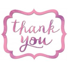 Thank You Party Decorations - Stickers New Pink