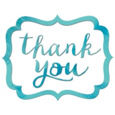 Thank You Party Decorations - Stickers Robbin's Egg Blue