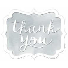Thank You Party Decorations - Stickers White