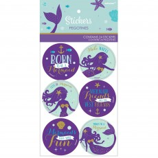 Mermaid Wishes Stickers Favours