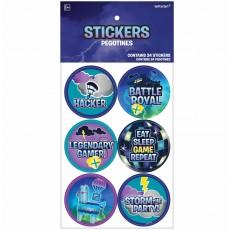 Battle Royal Sticker Favours 5cm Pack of 24