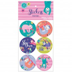 Sloth Stickers Favours 5cm Pack of 24
