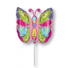 Multi Colour Mini Whimsical Garden Butterfly Shaped Balloon