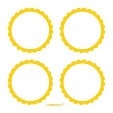 Yellow Sunshine Scalloped Labels Misc Accessories