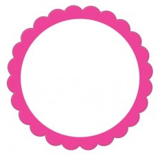 Pink Bright Scalloped Labels Misc Accessories