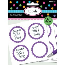 Purple New Scalloped Labels Misc Accessories