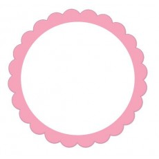 Pink New Scalloped Labels Misc Accessories