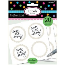 White Scalloped Labels Misc Accessories