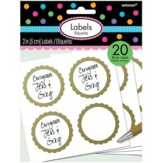 Gold Scalloped Labels Misc Accessories