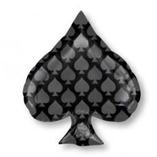 Casino Party Decorations Junior Black Spade Shaped Balloons