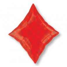 Casino Party Decorations Junior Red Diamond Shaped Balloons