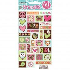 Hippie Chick Sticker Sheet Favours