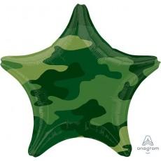 Star Camouflage Standard XL Shaped Balloon 45cm